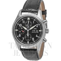 IWC Pilot Chronograph Steel 42mm Black Arabic numerals United States of America, New York, Hartsdale