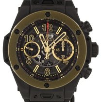Hublot Ceramic Automatic Black 45mm pre-owned Big Bang Unico