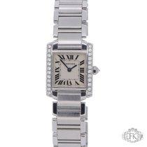 Cartier Tank Francaise Diamond Set | Stainless Steel Ladies