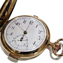 Vintage Gold 18Kt Chronograph Pocket Watch With Quarter Repeating