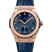 Hublot Classic Fusion Blue Power Reserve King Gold
