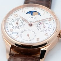 IWC Portuguese Perpetual Calendar Rose gold Silver Arabic numerals United States of America, Texas, Houston
