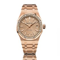 Audemars Piguet Royal Oak Lady Rose Gold with Diamonds Pink...