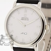 Zenith Platinum Automatic White Roman numerals 35mm pre-owned Elite Ultra Thin