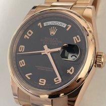 Rolex Rose  Gold Day-Date, Black Arabic Dial Ref: 118205 (2011)