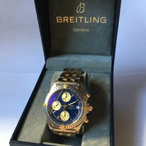 Breitling Chronomat Gold/Steel 40mm Blue No numerals