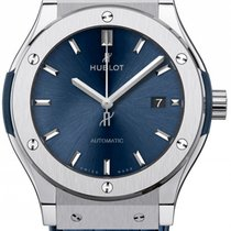 Hublot Titanium Automatic Blue No numerals 42mm new Classic Fusion Blue