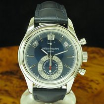Patek Philippe Annual Calendar Chronograph Platinum 40.5mm Blue