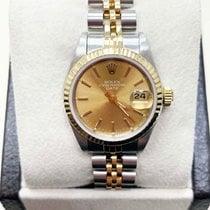 Rolex Сталь Автоподзавод Цвета шампань 26mm подержанные Lady-Datejust