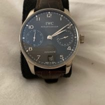 IWC White gold Automatic Grey Arabic numerals 42.3mm pre-owned Portuguese Automatic