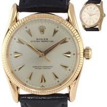 Rolex Oyster Perpetual 34 Yellow gold 34mm Silver United States of America, New York, Huntington