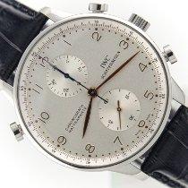 IWC Portuguese Chronograph Stal 41mm Srebrny Arabskie Polska, Kraków