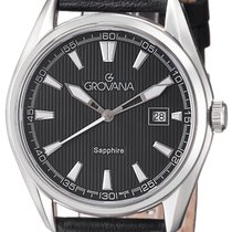 Grovana Steel Quartz Black new Traditional