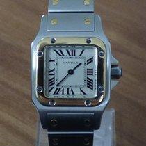 Cartier Santos Galbée Gold/Stahl 23mm Weiß Römisch Deutschland, Niederbayern