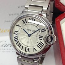 Cartier Ballon Bleu 36mm Stal 36mm Srebrny Rzymskie