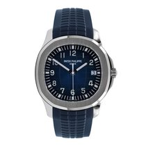 Patek Philippe White gold Automatic Blue 42.2mm new Aquanaut