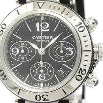 Cartier Polished Cartier Pasha Seatimer Chronograph Automatic...