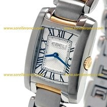Ebel Brasilia 1216067 EBEL STEEL SILVER GOLD DIAL ROMAN NUMERALS BLUE new