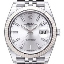Rolex Datejust Steel 41mm Silver No numerals
