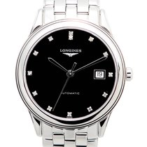 Longines Flagship Stainless Steel Black Automatic L4.874.4.57.6