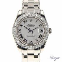 Rolex Datejust Pearlmaster 34 White Gold Diamond White Roman