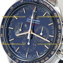 Omega Cronógrafo 42mm Corda manual novo Speedmaster Professional Moonwatch Azul