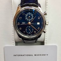 IWC Portugieser Chronograph IW390303 Blue Dial 2017 Like New