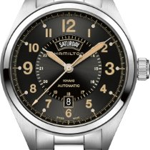 Hamilton Steel Automatic new Khaki Field Day Date