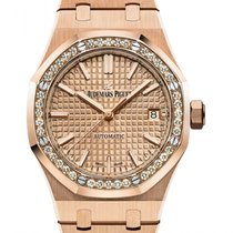 Audemars Piguet Rose gold Automatic 37mm new Royal Oak Lady