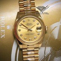 Rolex Datejust President 31mm 18k Yellow Gold Diamond Dial...