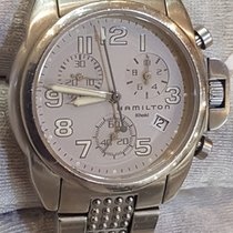 Hamilton Khaki  Date 6303 Steel Sappire Crystal W.R. 10 ATM 100mt