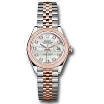 Rolex Lady-Datejust Goud/Staal 28mm Parelmoer