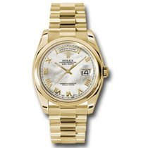 Rolex Day-Date 36 Oro giallo 36mm Madreperla Romano