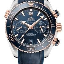 Omega Seamaster Planet Ocean Chronograph 215.23.46.51.03.001 Ubrugt Guld/Stål 45.5mm Automatisk
