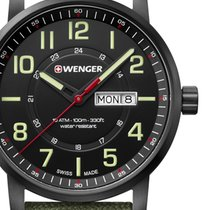 Wenger Steel 42mm Quartz 01.1541.104 new