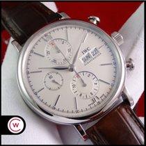 IWC Portofino Chronograph Aço 42mm Prata Romanos
