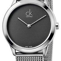 ck Calvin Klein Steel 35mm Quartz K3M2212X new