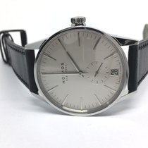 NOMOS Zürich Datum pre-owned 40mm Silver Date Leather