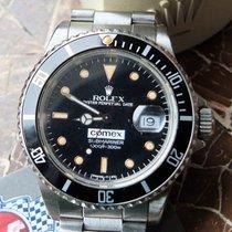 Rolex Submariner Date 16800 COMEX 1 Besitz Full Set Box & Papiere und Tauchbücher Zeer goed Staal 40mm Automatisch