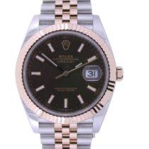 Rolex Pозовое золото Автоподзавод Коричневый Без цифр 41mm новые Datejust II