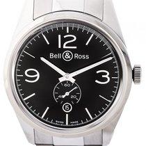 Bell & Ross Vintage BR 123 Officer Black Stahl Automatik...