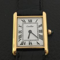 Cartier Rare Tank Louis Cartier vintage 18k Yellow gold mecanique