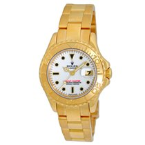 Rolex Lady 18K Yellow Gold 29mm Yachtmaster Automatic 69628...