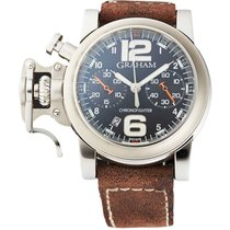 Graham 2CRBS.B02A.L81B Chronofighter R.A.C in Steel - on Brown...