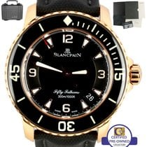 Blancpain MINT Blancpain Fifty Fathoms 18K Rose Gold 45mm...