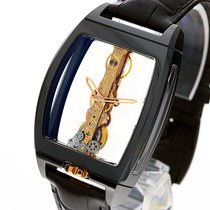 Corum Golden Bridge Ceramic black 18k Gold Sapphire Glass NEW