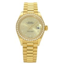 Rolex Lady-Datejust Yellow gold 28mm Gold No numerals United Kingdom, Liverpool