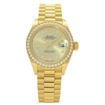 Rolex Lady-Datejust Or jaune 28mm Or Sans chiffres