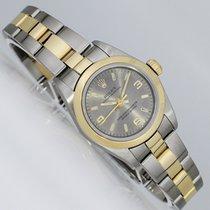 Rolex Oyster Perpetual gebraucht 25mm Grau Gold/Stahl