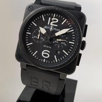 Bell & Ross Carbon Automatic Black 42mm pre-owned BR 03-94 Chronographe